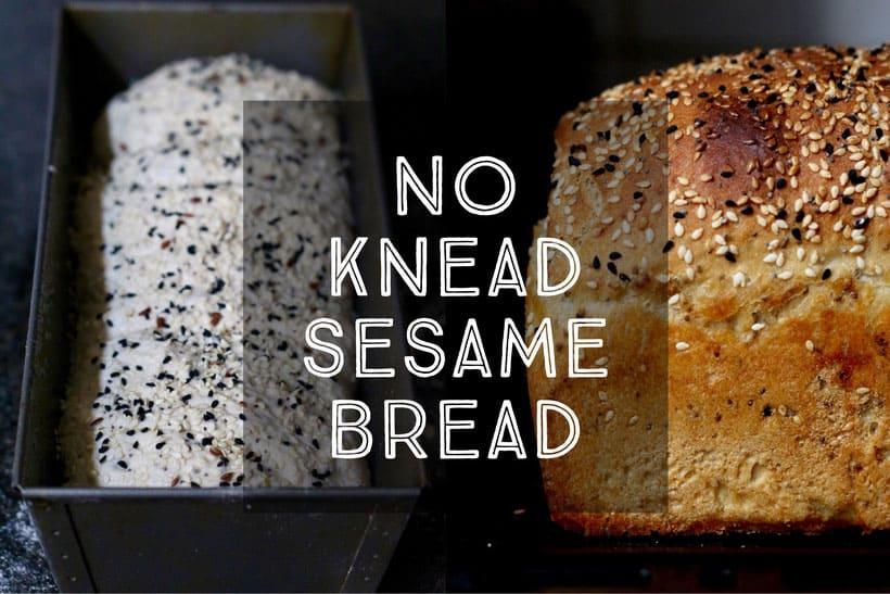 No Knead Sesame Bread