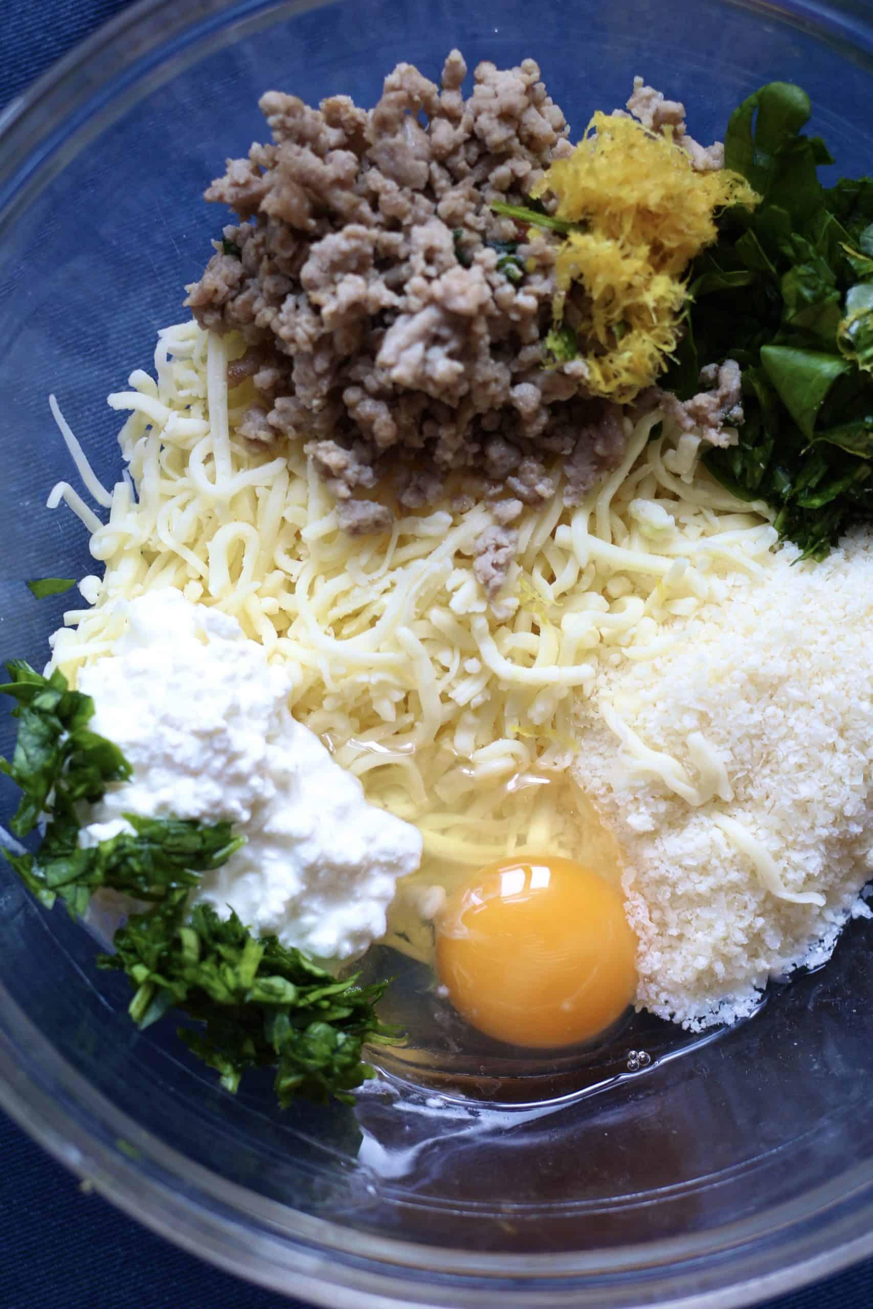 Pasta filling ingredients