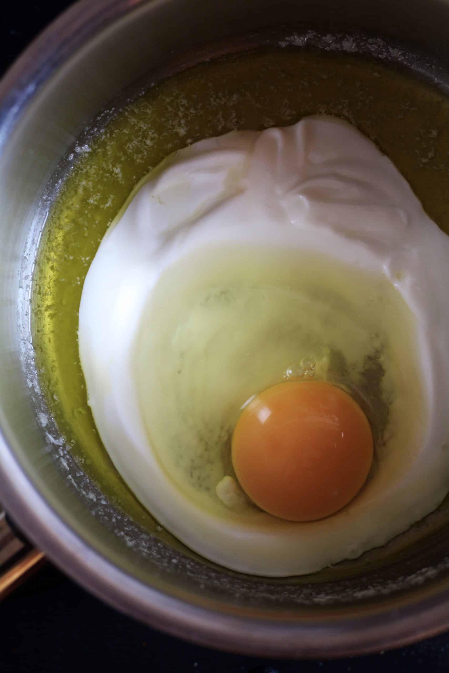 Egg, yoghurt butter