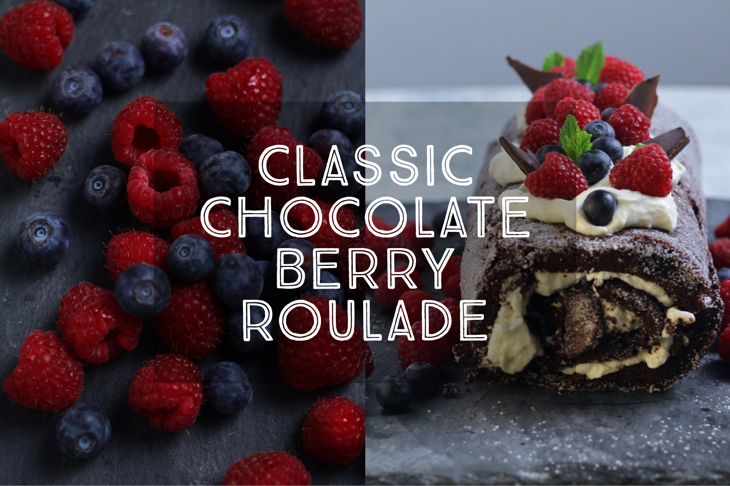 Classic Chocolate Berry Roulade