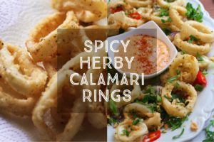 Spicy Herby Calamari Rings