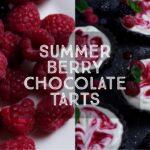 Summer Berry Chocolate Tarts