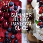 Summer Berry Pavlova Slice