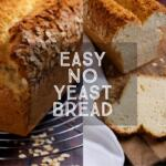 If you've run out of yeast you can still make a delicious loaf of bread with common household ingredients. Easy No Yeast Bread uses baking powder to create a beautifully risen loaf of bread in just over an hour.