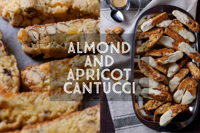 Often known in the English speaking world as 'biscotti', Cantucci are a deliciously crunchy Italian treat. My recipe for Almond and Apricot Cantuccini is so easy and perfect for the festive season. Serve with a strong espresso or a glass of Italian vin santo.