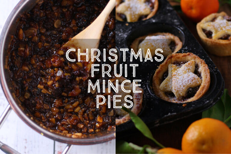 Delicate, crumbly pastry filled with aromatic spiced fruit, Christmas Fruit Mince Pies are one of the most delicious treats of the season. One is never enough!
