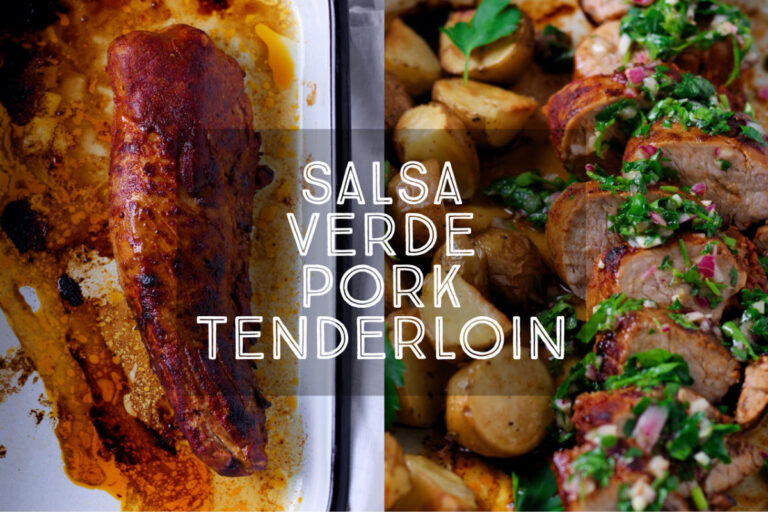 Melt in your mouth pork, topped with a vibrant green sauce, Salsa Verde Pork Tenderloin is so incredibly tasty it is worth making two as the first is guaranteed to disappear in a flash!
